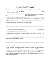 """Accounting Contract Template"""