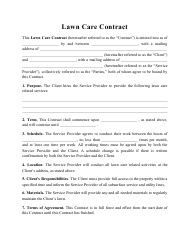 """Lawn Care Contract Template"""