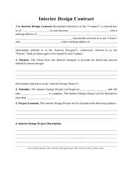 """Interior Design Contract Template"""