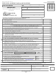 """Form BOE-401-A2 (S1F) """"State, Local, and District Sales and Use Tax Return"""" - California"""