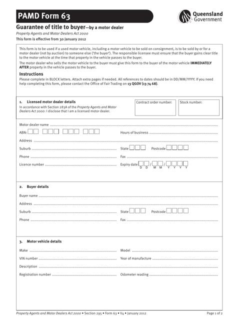 PAMD Form 63 Printable Pdf