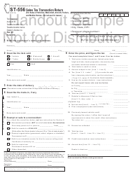"Sample Form ST-556 ""Sales Tax Transaction Return"" - Illinois"