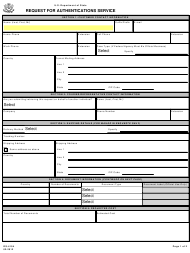 "Form DS-4194 ""Request for Authentications Service"""