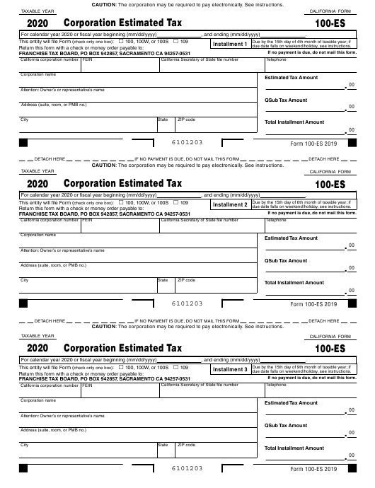 california estimated tax payment form 2019