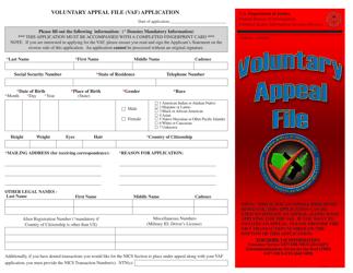 """Voluntary Appeal File (Vaf) Application"""