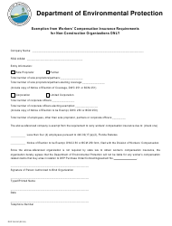"Form DEP55-241 ""Worker's Compensation Exemption Form"" - Florida"