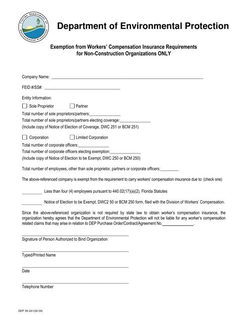 Form DEP55-241  Printable Pdf