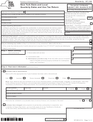 "Form ST-100 ""New York State and Local Quarterly Sales and Use Tax Return"" - New York"