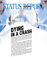 """Iihs Status Report Newsletter, Vol. 46, No. 5, June 9, 2011: Dying in a Crash"""