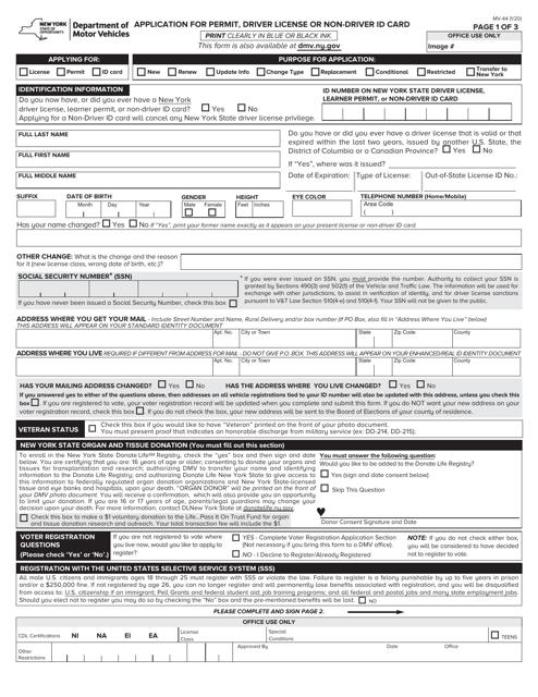 Form MV-44  Printable Pdf
