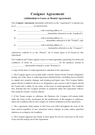 """Cosigner Agreement Template"""