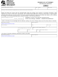 "Form 48-7104 ""Power of Attorney With Odometer Disclosure"" - Arizona"