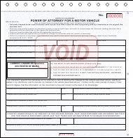 "Sample Form DR2174 ""Power of Attorney for a Motor Vehicle"" - Colorado"