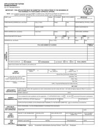 """Form CO-101 """"Application for Tuition Reimbursement"""" - Connecticut"""