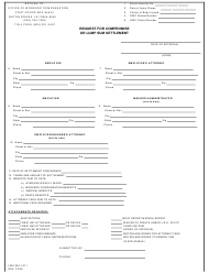 """Form LWC-WC-1011 """"Request for Compromise or Lump Sum Settlement"""" - Louisiana"""