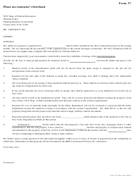 """Form 37 """"Contractor Request for Storage of Material/Equipment"""" - New York City"""