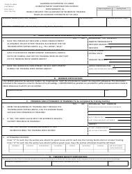 "Form ETA858A ""Weekly Request for Allowance by Worker in Training"" - Alabama"