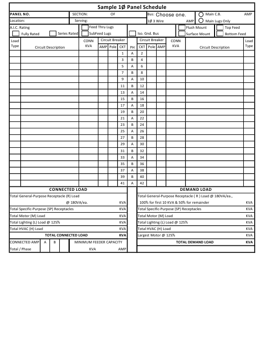 Sample Panel Schedule Template Download Pdf