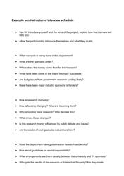 """Sample Semi-structured Interview Schedule"""