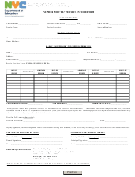 Vendor Monthly Service Invoice Form - New York, New York