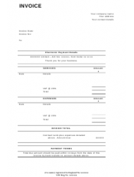 Invoice Template - United Kingdom