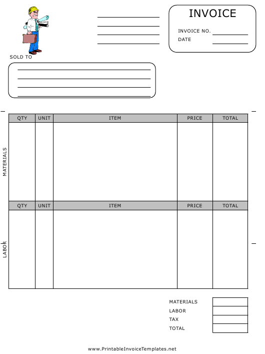Contractor Invoice Template Download Pdf
