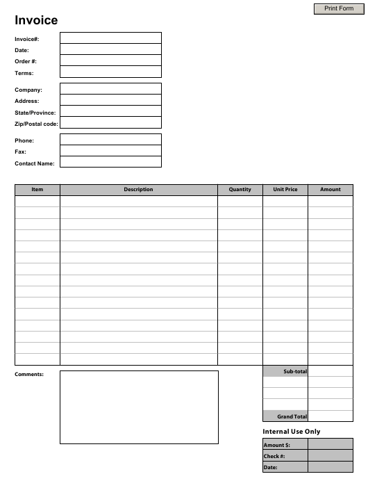 Business Invoice Template Download Pdf
