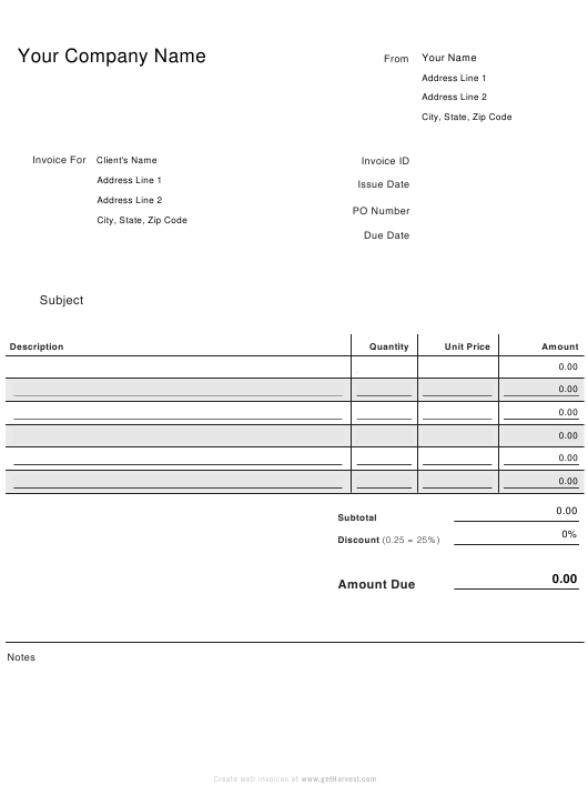 """Invoice Receipt Template"" Download Pdf"