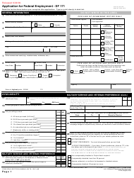 """Form SF-171 """"Application for Federal Employment"""""""