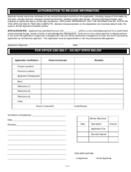 """Rental/Credit Application Form"", Page 3"