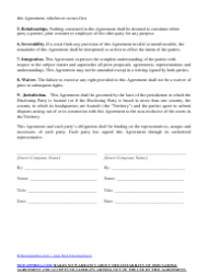 """""""Sample Mutual Non-disclosure Agreement"""", Page 2"""