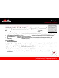 Volunteer Confidentiality And Non-disclosure Agreement Template - Volunteering Qld
