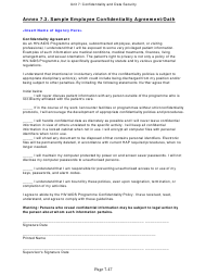 "Sample ""Employee Confidentiality Agreement/Oath Template"""