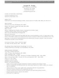 Sample Federal Format Resume