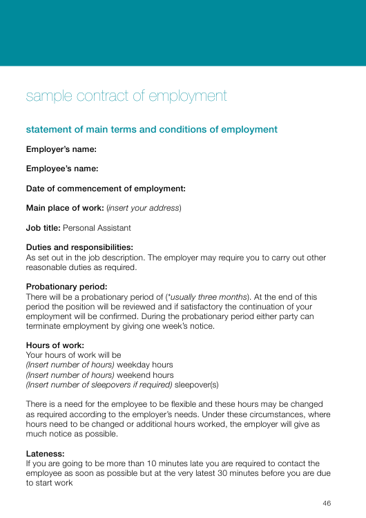Sample Employment Contract Template Download Pdf