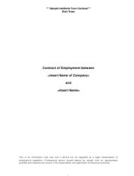 Sample Indefinite Term Employment Contract Template