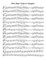 Major Scales & Arpeggios Oboe Sheet Music