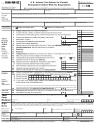 "IRS Form 1040-NR-EZ ""U.S. Income Tax Return for Certain Nonresident Aliens With No Dependents"""