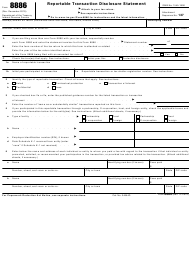 "IRS Form 8886 ""Reportable Transaction Disclosure Statement"""