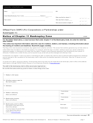 "Official Form 309F2 ""Notice of Chapter 11 Bankruptcy Case"""