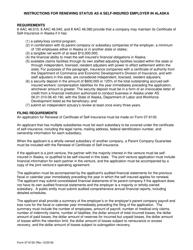 "Form 07-6130 ""Renewal of Certificate of Self-insurance"" - Alaska"