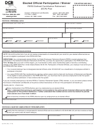 "Form DCR006 ""Elected Official Participation / Waiver - Pers Defined Contribution Retirement (Dcr) Plan"" - Alaska"