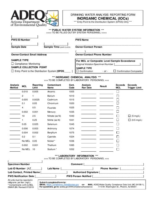 Form DWAR2IN  Printable Pdf