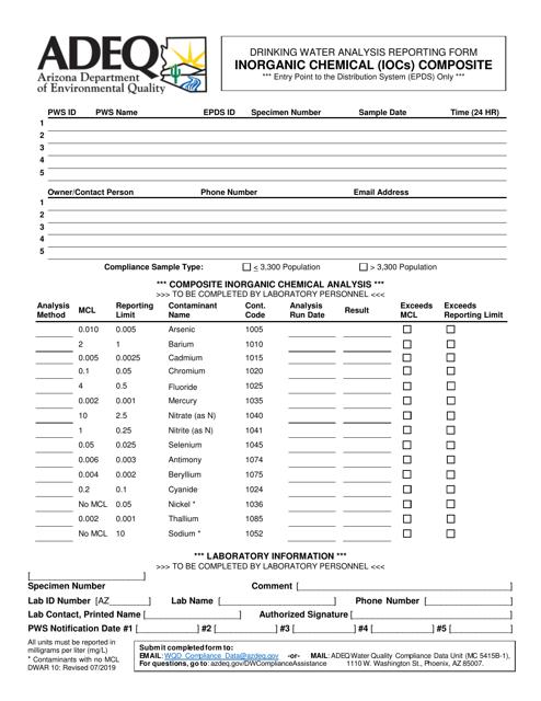 Form DWAR10  Printable Pdf