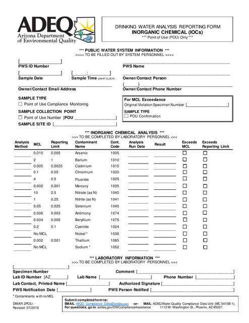 Form DWAR2POU  Printable Pdf