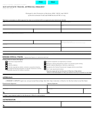 """Form STD.257 """"Out-Of-State Travel Approval Request"""" - California"""