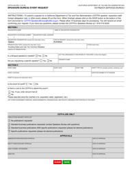 "Form CDTFA-344 ""Speakers Bureau Event Request"" - California"