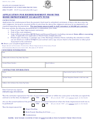 """Form HIGF-01 """"Application for Reimbursement From the Home Improvement Guaranty Fund"""" - Connecticut"""