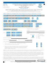 """Form ED170A """"Short Form Application for Connecticut Initial Educator Certificate"""" - Connecticut"""