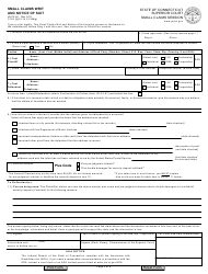 """Form JD-CV-40 """"Small Claims Writ and Notice of Suit"""" - Connecticut, Page 2"""